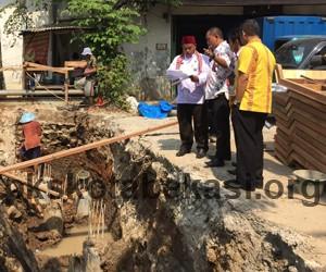 Aleg PKS Komisi B DPRD Kota Bekasi Sidak Progres Perbaikan Jembatan Kali Sasak Jarang