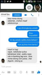 Syaikhu Klarifikasi Akun 'Minta Pulsa'