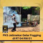 PKS Jatimekar Gelar Fogging di RT 04 RW 01