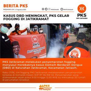 Kasus DBD Meningkat, PKS Gelar Fogging di Jatikramat